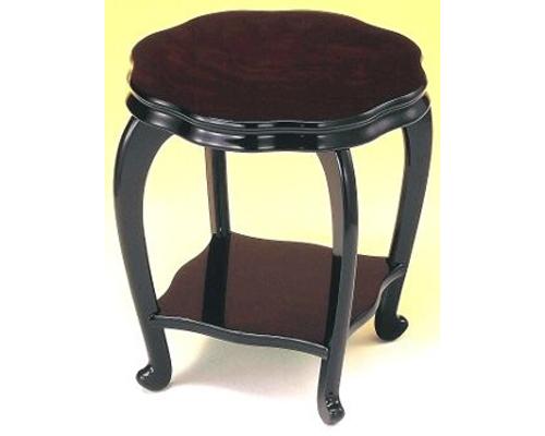 花台 華 7号 黒丹調 木製飾り台 国産品