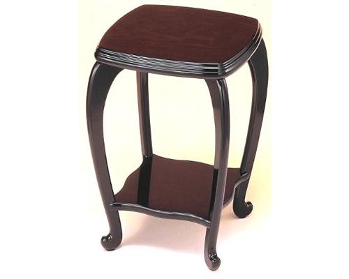 花台 悠 3号 黒丹調 木製飾り台 国産品