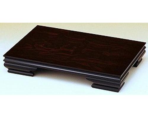 花台 みやび 黒丹調 25号 木製飾り台 国産品
