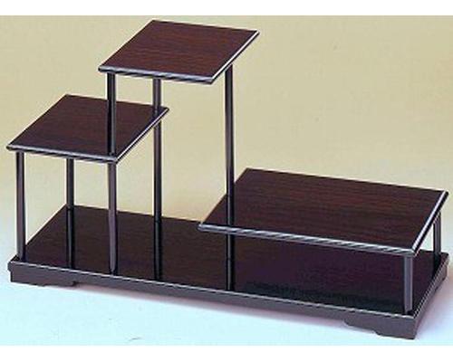 花台 飾り棚3段 木製飾り台 国産品