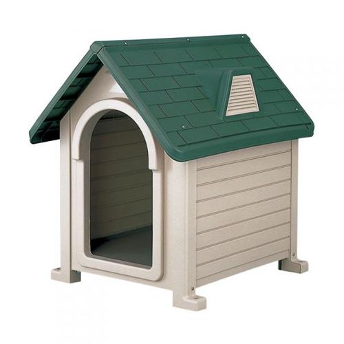リッチェル ペットハウス DX-490 ダークグリーン(DG)【ペット用品・ドッグハウス・犬小屋・屋外・プラスチック製】