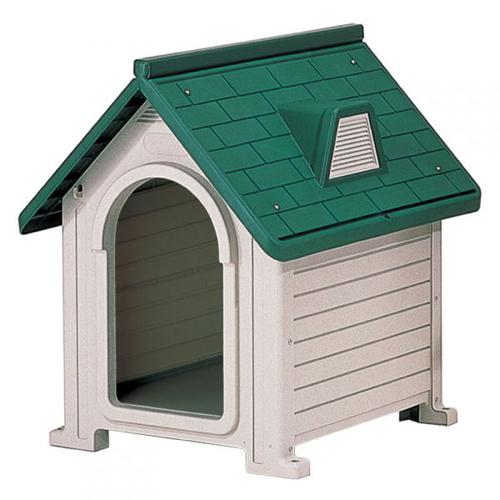 リッチェル ペットハウス DX-580 ダークグリーン(DG)【ペット用品・ドッグハウス・犬小屋・屋外・プラスチック製】