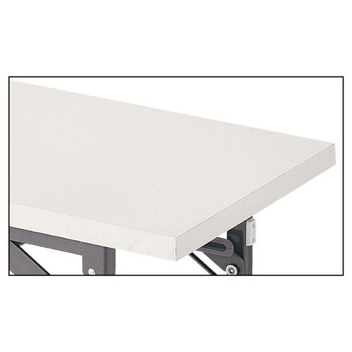 折りたたみ会議テーブル ホワイト(白)W150×D45×H70cm 棚付き、長机、長テーブル