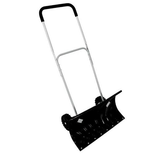 家庭用除雪スコップ「大型車輪付 スノープッシャー 楽太郎 WS-150 ヒロショウ」手押し雪かき器具、押し出し除雪、ワイドシャベル、ショベル、スノーダンプ