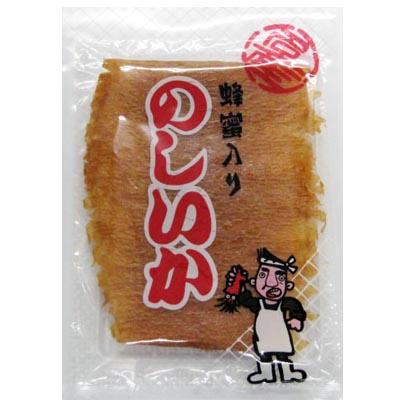 いかの旨味と糖蜜の甘味をミックス♪一枚ずつ丁寧にまろやかに仕上げました!!珍味/おつまみ/イカ/ 【メール便送料無料】のしいか(蜂蜜入り)/60g-2袋セット