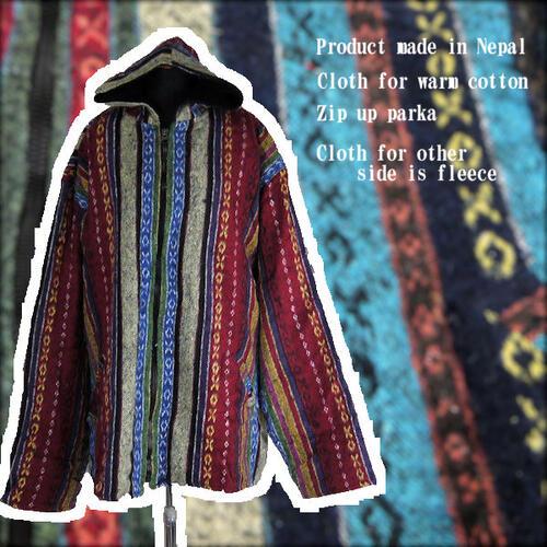 Manmaru Asia Online Shop Nepal Cotton Jacket Zip Up Parka Brushed