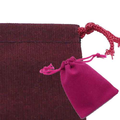 Velour-style jewellery pouch purse bag for SS 9 colors