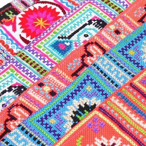 インテリアに リメイクに メール便可 モン族 85~92 与え 端切れ 古布 新品■送料無料■ 刺繍