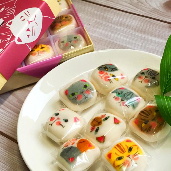 【ホワイトデー】【お返し】【猫好きの人に贈ろう】【和菓子】和風マシュマロ『マシュネコ』9個入り【猫】【プレゼント】【内祝い】【お返し】