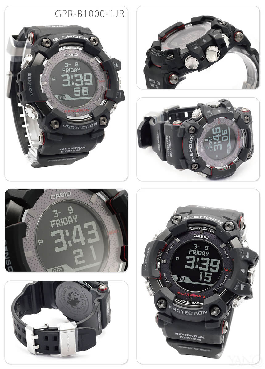 Casio G-Shock GPR-B1000-1JR survival toughness RANGEMAN solar assist GPS  navigation Bluetooth deployment wireless charge men watch CASIO G-SHOCK ... 8db3b018488f