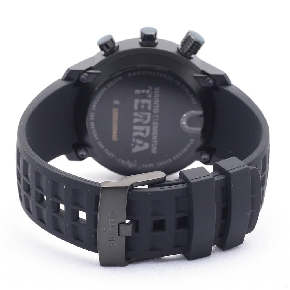 【安心2年保証】スント SUUNTO ELEMENTUM TERRA エレメンタム SS018732000 ブラック BLACK RUBBER / LIGHT DISPLAY  腕時計