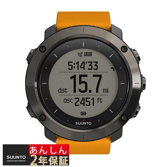 【2,000円OFFマラソンクーポン!9日20時から】【安心2年保証】スント SUUNTO TRAVERSE AMBER トラバース GPS ブルートゥース SS021844000 アンバー 腕時計