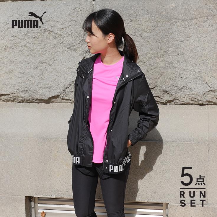 セット 5点 パンツ スポーツ ランニングウェア マラソン 上下 おしゃれ ウォーキング 福袋 ジョギング 初心者 ダイエット かわいい 女性 半袖Tシャツ プーマ レディース タイツ ソックス