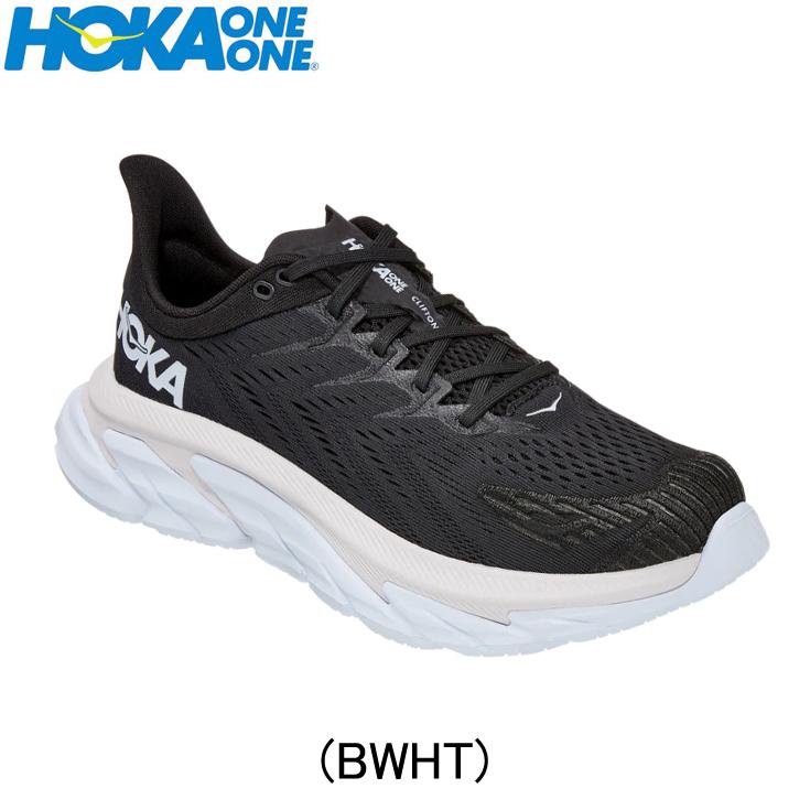 ホカオネオネ hokaoneone ランニングシューズ レディースシューズ ジョギング マラソン スポーツ 期間限定ソックスプレゼント CLIFTON 売買 ランニング用品 陸上 クリフトン ユニセックス 1110511-bwht エッジ 百貨店 靴 EDGE