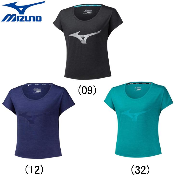 ミズノ mizuno ランニングウェア レディースシャツ おしゃれ ジョギング マラソン スポーツ 出群 女性 陸上 ランニング用品 ランニンググラフィックTシャツ j2ma9733 安心の実績 高価 買取 強化中 レディース 半袖