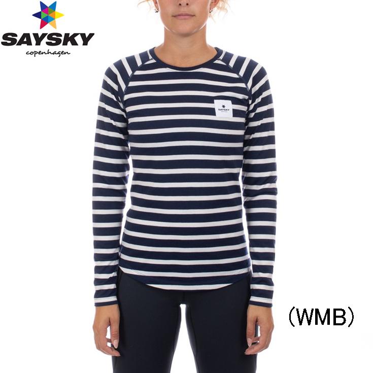セイスカイ SAYSKY WOLFPACK STRIPED LS TEE ウォルフパック ロングスリーブTシャツ ランニングシャツ ウィメンズ レディース 女性【agrls1】陸上・ランニング用品