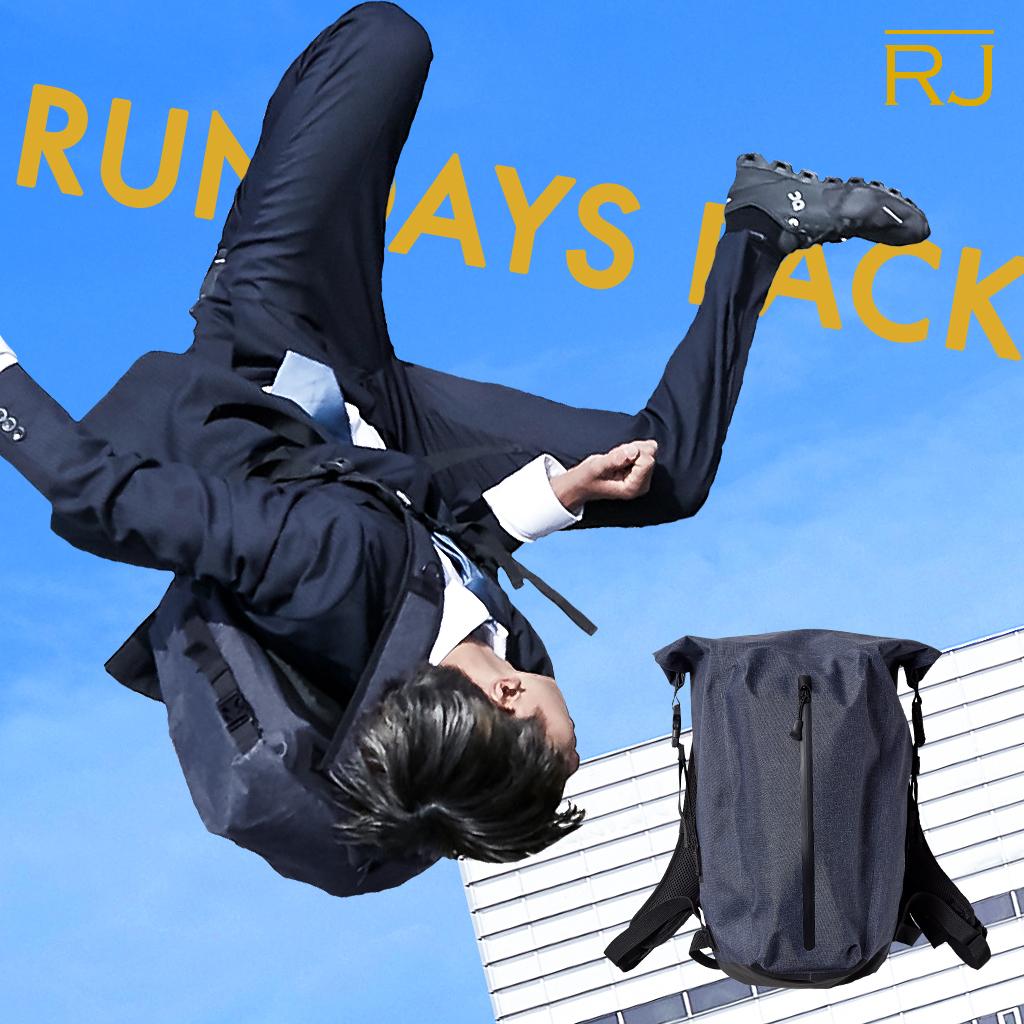 RJ ビジネスバッグ ランニングリュック 走れる 完全防水 ランデイズパック