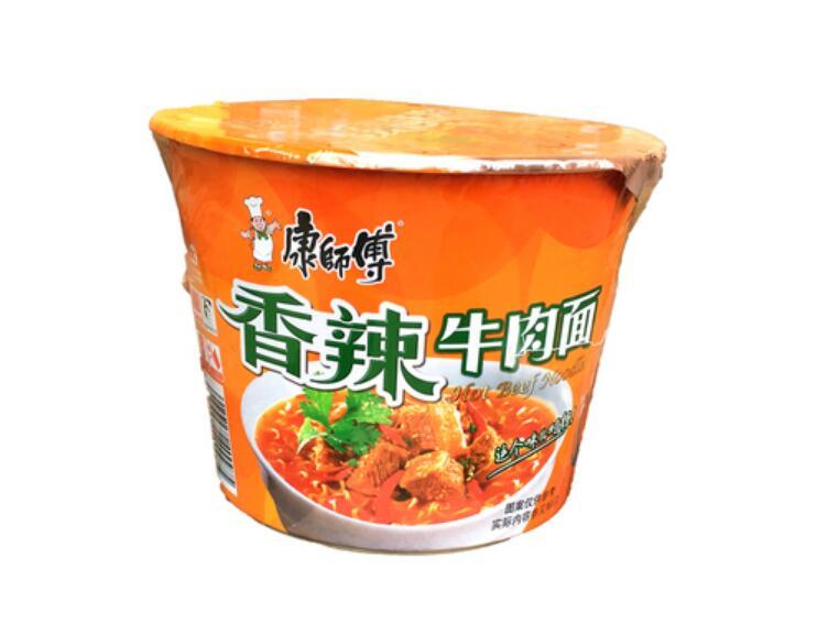 康師傅香辣牛肉面 方便面 泡面 カップ 5☆大好評 インスタントラーメン 1食×12点 定番から日本未入荷 即食面 ケース販売