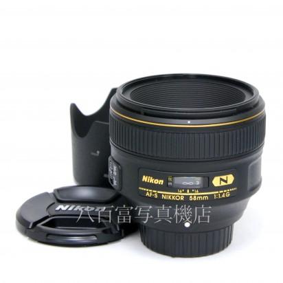 【中古】 ニコン AF-S NIKKOR 58mm F1.4G Nikon 中古レンズ 33463【カメラの八百富】【カメラ】【レンズ】