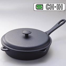 南部鉄器 フライパン(蓋付き) IH対応【岩鋳 日本製 蓋付 200V IH対応】