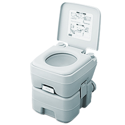 ポータブル水洗トイレ 2層式 20リットル (簡易トイレ) 【水洗式トイレ 簡易トイレ 水洗 ポータブル水洗トイレ 携帯トイレポータブル水洗トイレ 】