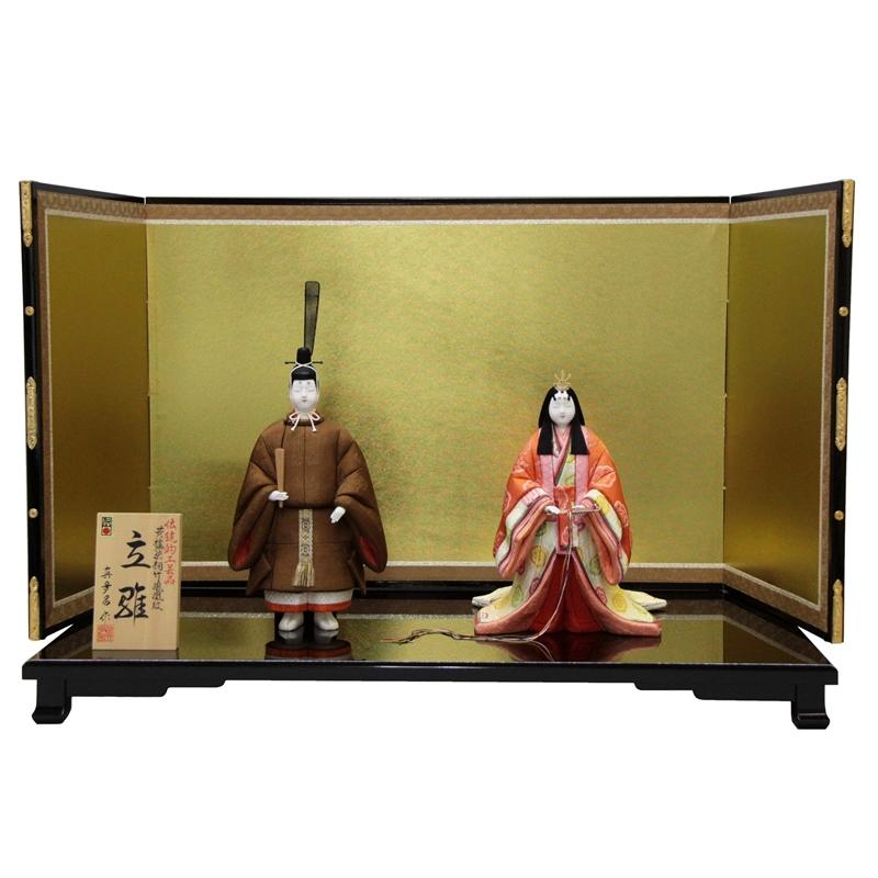 【雛人形】平飾り木目込み立雛 東宮立雛1147 幅81cm 3mk14 真多呂 伝統的工芸品 雛祭り