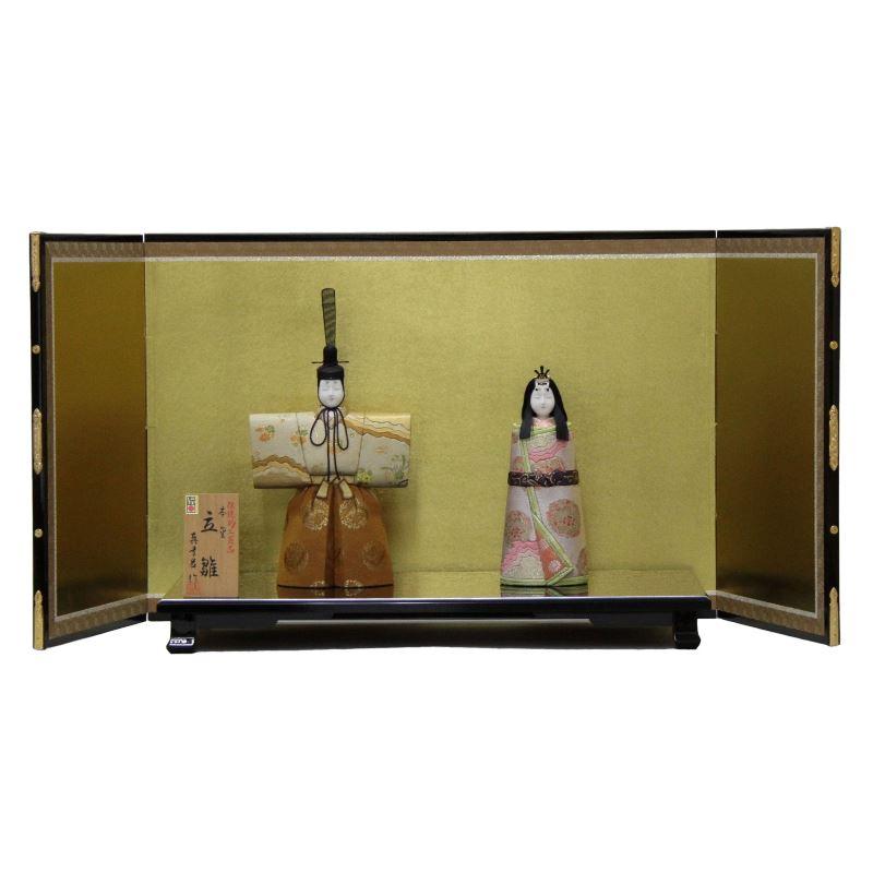 【雛人形】平飾り木目込み親王 本金修明立雛1904 幅88cm 3mk22 真多呂 伝統的工芸品 雛祭り