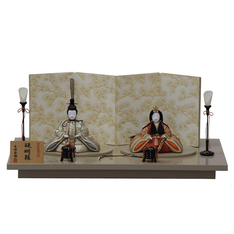 【雛人形】平飾り木目込み親王 醍醐雛20号C1803 幅60cm 3mk33 一秀(木村秀櫻) 雛祭り