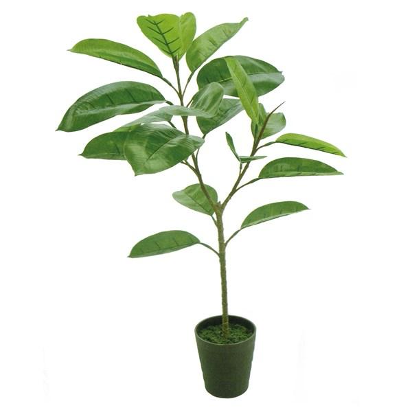人工観葉植物 デコラゴムミニポット 高さ90cm fg5436 (代引き不可) インテリアグリーン 造花