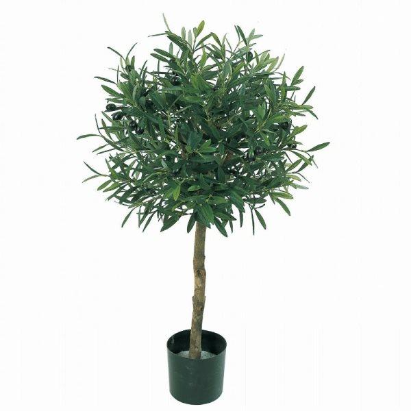 人工観葉植物 オリーブトピアリーL 高さ85cm fz4401 (代引き不可) インテリアグリーン 造花