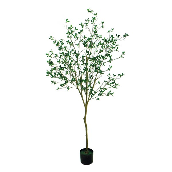 人工観葉植物 ミニリーフツリーポット 高さ180cm fg17800 (代引き不可) インテリアグリーン 造花
