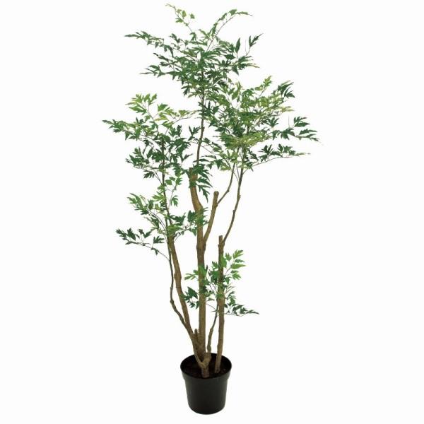 最高の fg18000 インテリアグリーン (き) 高さ150cm ポリシャスフルティコサ5F 造花:社人形会館店 人工観葉植物-花・観葉植物