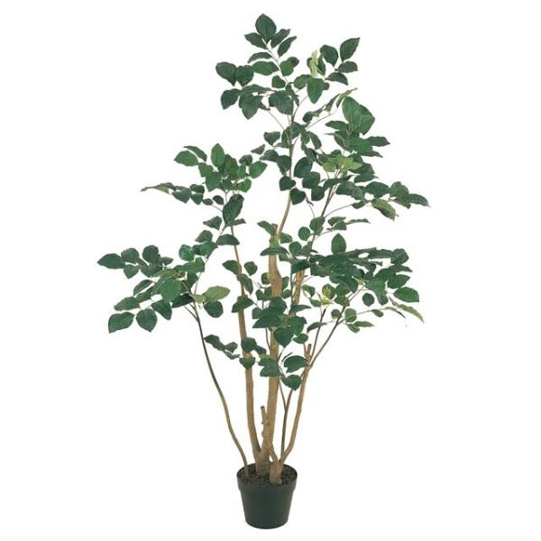 人工観葉植物 ポリシャスポットM 高さ150cm fg88210 (代引き不可) インテリアグリーン 造花