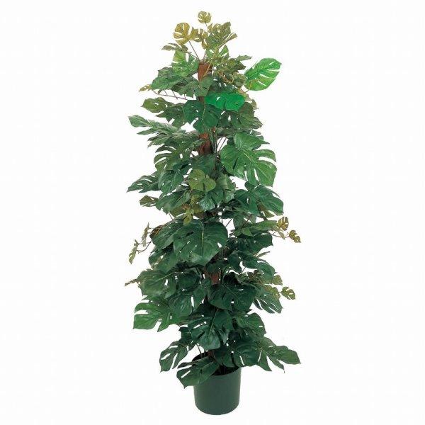 人工観葉植物 モンステラヘゴポット 高さ150cm fg8102 (代引き不可) インテリアグリーン 造花