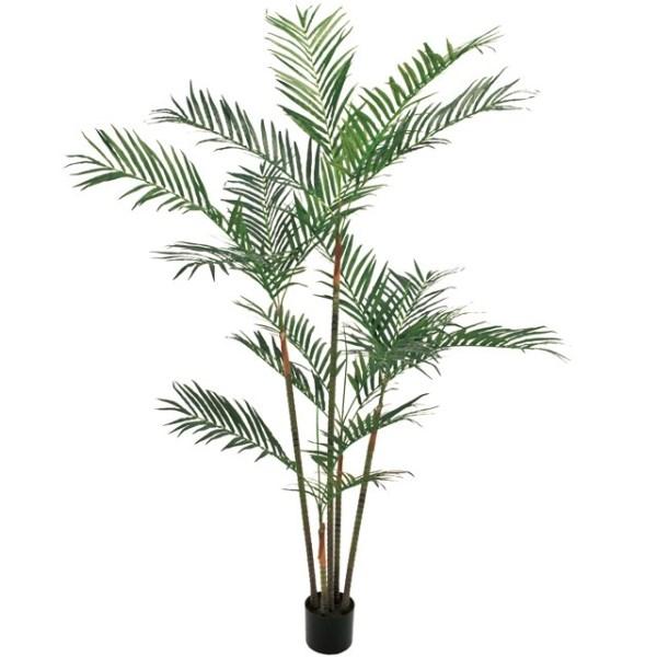 おすすめネット アレカパーム6F 造花:社人形会館店 インテリアグリーン 高さ180cm fg82862 (き) 人工観葉植物-花・観葉植物
