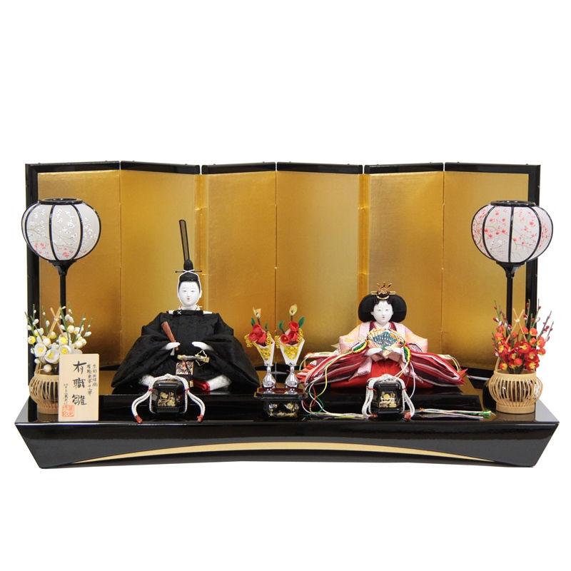 雛人形 親王平飾り【有職雛】正絹雲鶴[幅70cm]望月麗光[193to1705a77] 雛祭り
