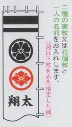 [徳永鯉][武者のぼり]節句幟用[9.1m~6.1m節句幟用][黄金色][二種の家紋または花個紋と一人の名前][tn-N4d][日本の伝統文化][武者のぼり]