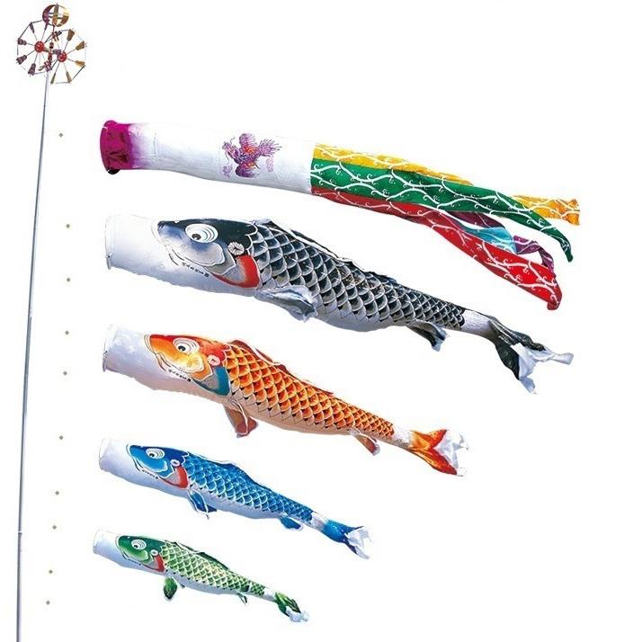 [徳永][鯉のぼり]庭園用[ポール別売り]大型鯉[5m鯉4匹][吉兆][飛龍吹流し][撥水加工][日本の伝統文化][こいのぼり]