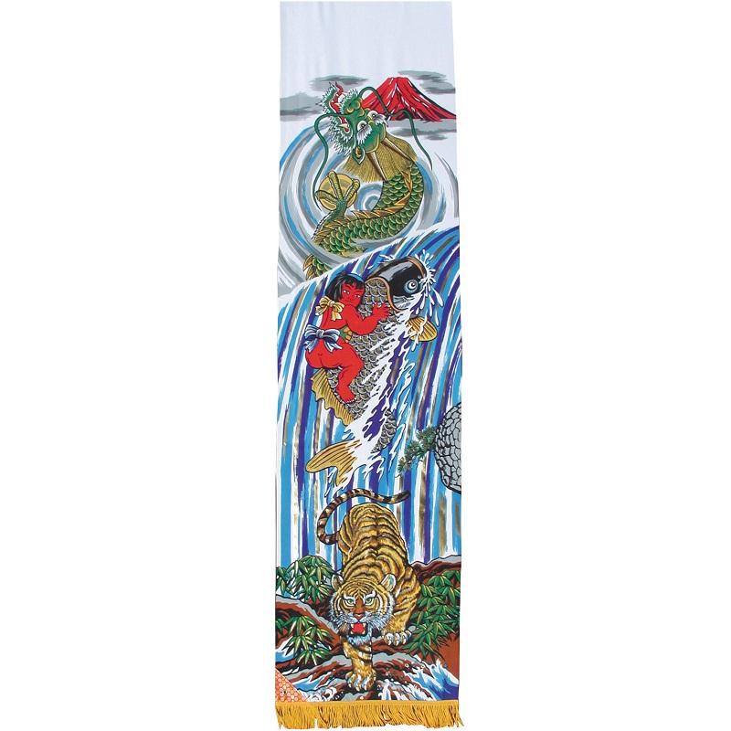 [徳永鯉][武者のぼり][登龍門幟]アルミ金箔登龍門[3.8m]スタンド(砂袋)[ポールフルセット][151-055][日本の伝統文化][五月人形]