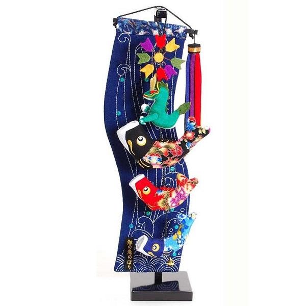室内鯉のぼり【鯉の滝登り】飾り台セット [特小] スタンド付き 鯉幟タペストリータイプ【sb5-ktn-ss】