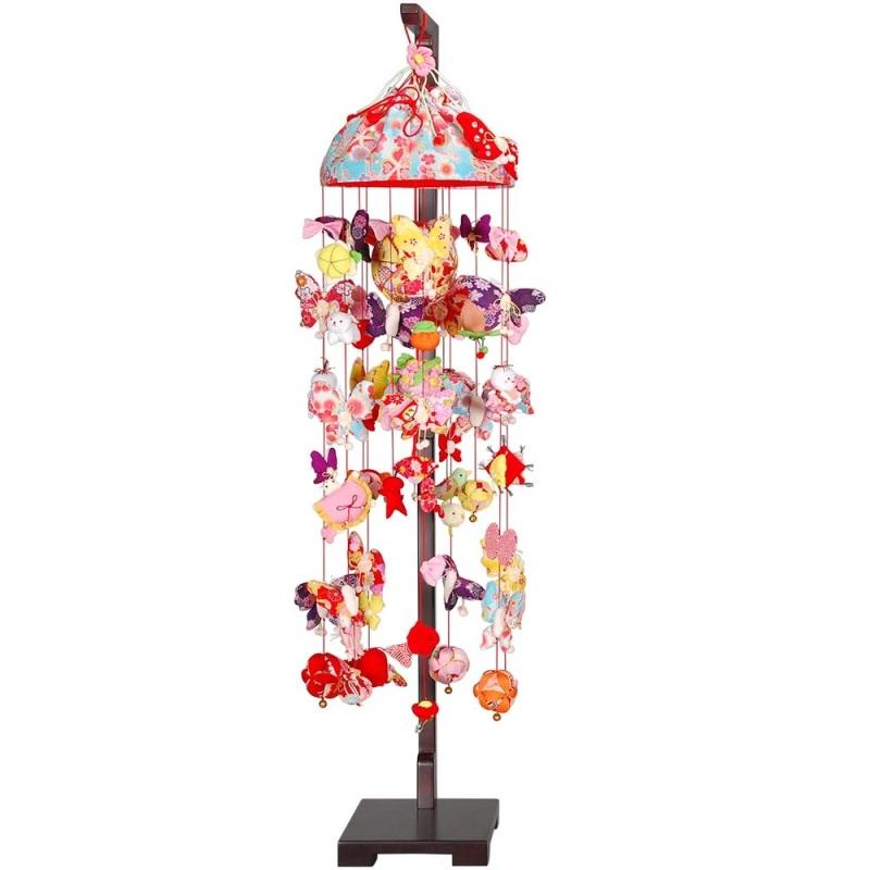 吊るし飾り【アゲハ蝶】飾り台セット [大] スタンド付き【sb3-agh-d】