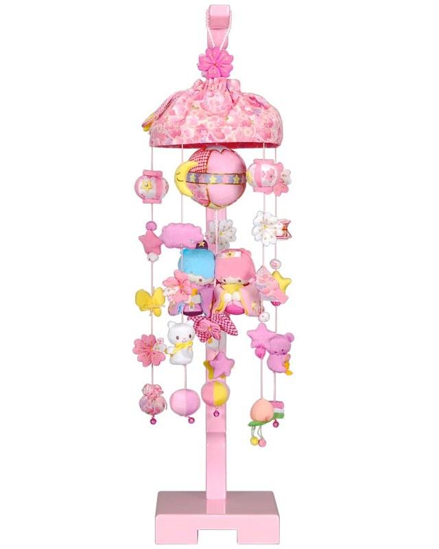 吊るし飾り(リトルツインスターズ)飾り台セット (小) スタンド付き 高さ66cm(sb3-lt-s)