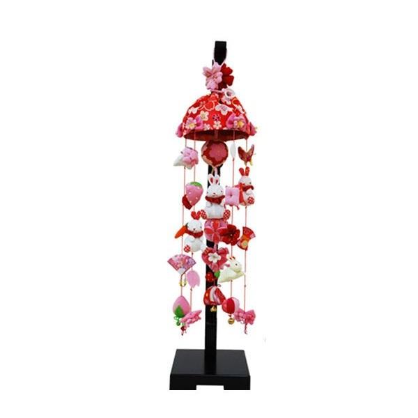 吊るし飾り【桜うさぎ】飾り台セット [小] スタンド付き【sb3-skru-s】
