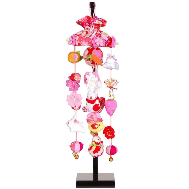 吊るし飾り【桜うさぎ】飾り台セット [特小] スタンド付き【sb3-skru-ss】