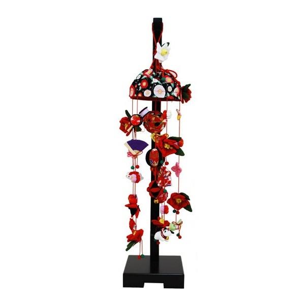 吊るし飾り【椿】飾り台セット [小] スタンド付き【sb3-tbk-s】