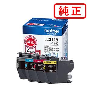LC3119-4PK(大容量)BROTHER/ブラザー 4色セット純正インクカートリッジ