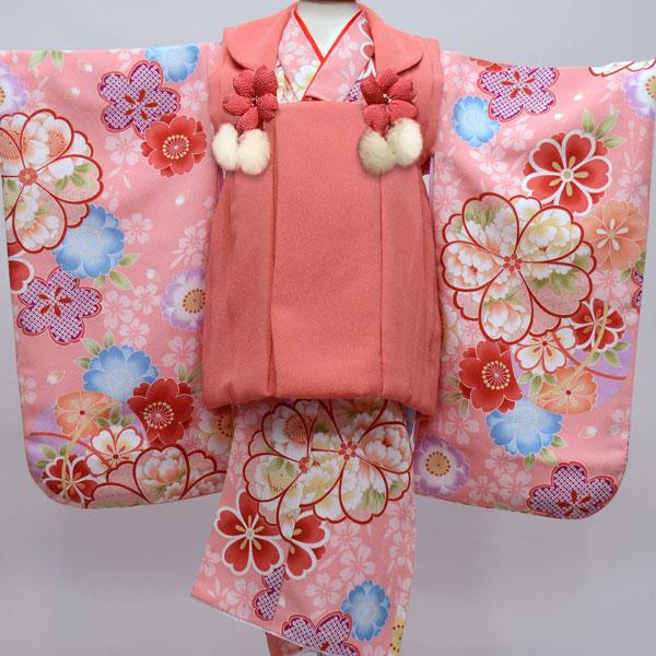 七五三 3才 3歳 三才 三歳 女児 女の子 被布着物祝着フルセット 被布と着物生地日本製 染め加工日本 縫製海外 長襦袢海外 新品(株)安田屋 m282770334