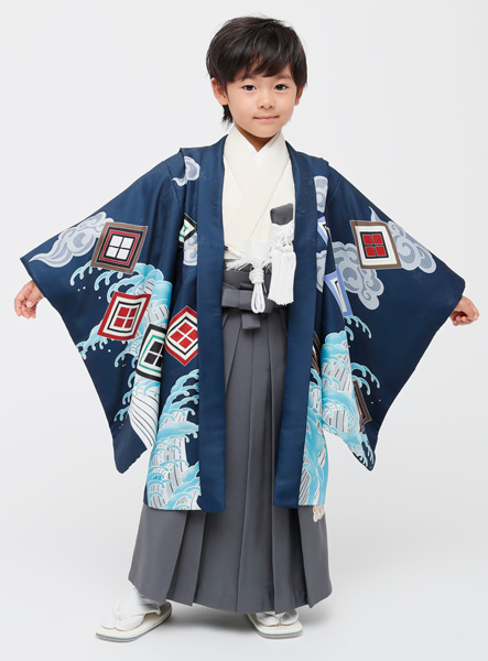 七五三 男児 男の子 羽織袴フルセット 5歳 5才 五歳 五才 着物 祝着 小町 (仕立て可95-125cm 草履サイズ変更可) 新品 (株)安田屋 l523388749