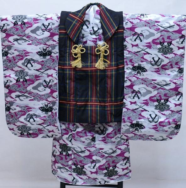 七五三 三歳 男児 被布 着物フルセット 生地は日本製 おりびと 新品 (株)安田屋 413452322