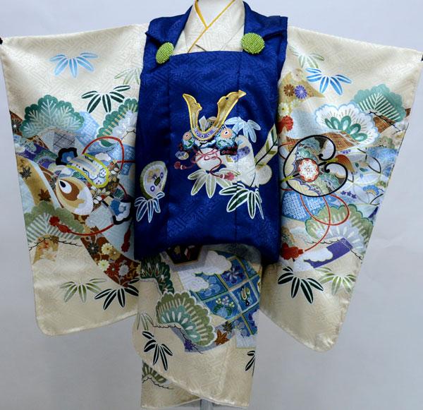 七五三 三歳 男児 被布 着物フルセット 日本製 陽気な天使 新品(株)安田屋 452791438